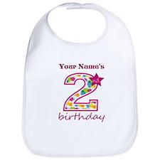 2nd Birthday Splat - Personalized Bib