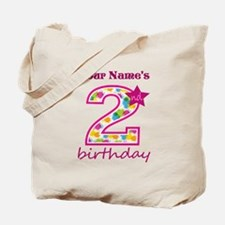 2nd Birthday Splat - Personalized Tote Bag