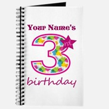 3rd Birthday Splat - Personalized Journal