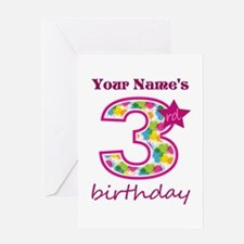 3rd Birthday Splat - Personalized Greeting Card