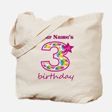 3rd Birthday Splat - Personalized Tote Bag