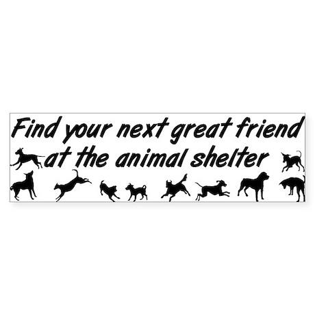 Adopt a Dog Sticker (Bumper)