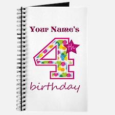 4th Birthday Splat - Personalized Journal