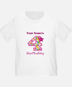 4th Birthday Splat - Personalized T