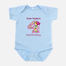 4th Birthday Splat - Personalized Infant Bodysuit