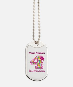 4th Birthday Splat - Personalized Dog Tags
