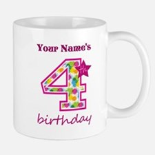 4th Birthday Splat - Personalized Mug