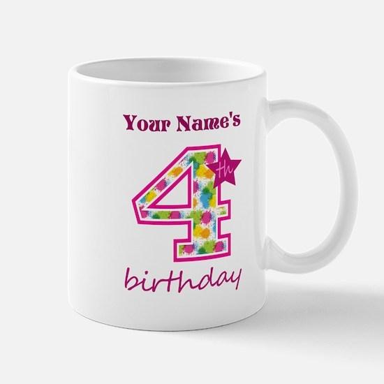 4th Birthday Splat - Personalized Mug