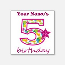 "5th Birthday Splat - Person Square Sticker 3"" x 3"""
