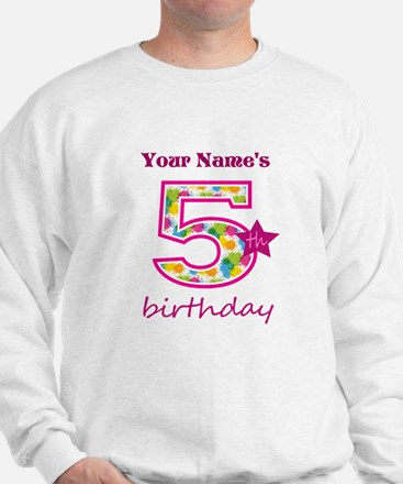 5th Birthday Splat - Personalized Sweatshirt