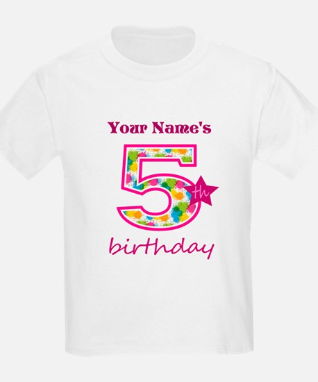 5th Birthday Splat - Personaliz T-Shirt