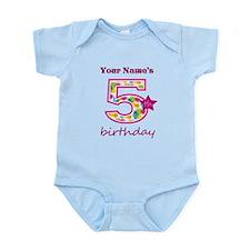 5th Birthday Splat - Personalized Infant Bodysuit