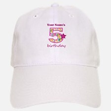 5th Birthday Splat - Personalized Baseball Baseball Cap
