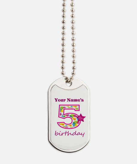 5th Birthday Splat - Personalized Dog Tags
