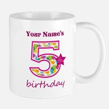 5th Birthday Splat - Personalized Mug