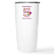 5th Birthday Splat - Pe Travel Mug