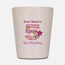 5th Birthday Splat - Personalized Shot Glass