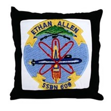 USS ETHAN ALLEN Throw Pillow