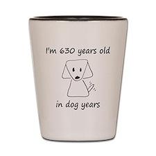 90 dog years 6 Shot Glass
