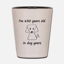 90 dog years 6 Shot Glass