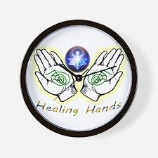 Healing hands Wall Clock