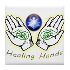 Healing hands Tile Coaster