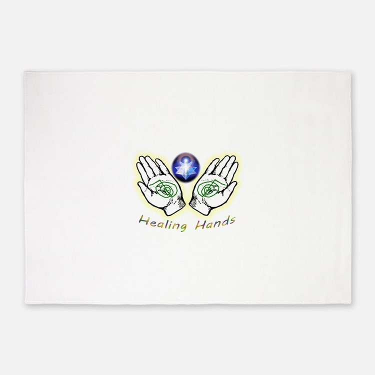 Healing hands 5'x7'Area Rug