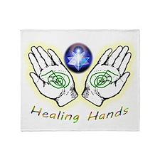 Healing hands Throw Blanket