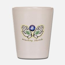 Healing hands Shot Glass