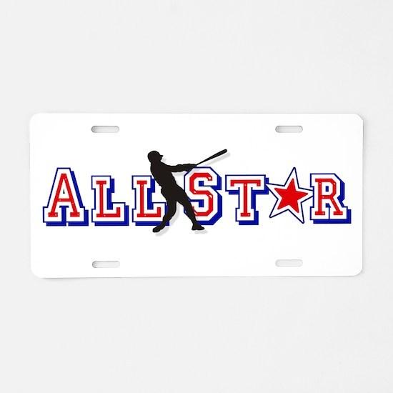 Baseball All Star Aluminum License Plate