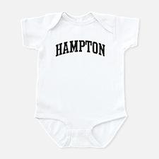 HAMPTON (curve-black) Infant Bodysuit