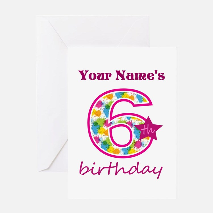 6 Year Old Birthday Greeting Cards – 6 Year Old Birthday Card