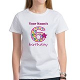 Birthday 6 girl t Women's T-Shirt
