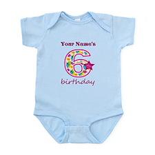 6th Birthday Splat - Personalized Infant Bodysuit