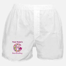 6th Birthday Splat - Personalized Boxer Shorts