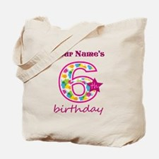 6th Birthday Splat - Personalized Tote Bag