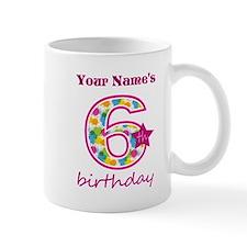 6th Birthday Splat - Personalized Mug