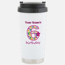 6th Birthday Splat - Pe Stainless Steel Travel Mug