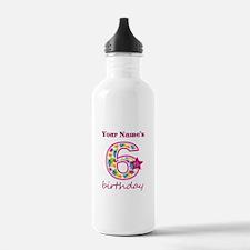 6th Birthday Splat - P Water Bottle