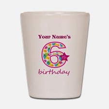 6th Birthday Splat - Personalized Shot Glass