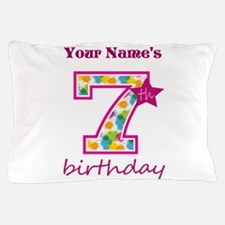 7th Birthday Splat - Personalized Pillow Case