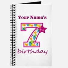 7th Birthday Splat - Personalized Journal