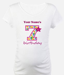 7th Birthday Splat - Personalize Shirt