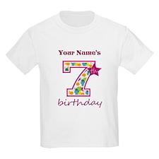 7th Birthday Splat - Personaliz T-Shirt
