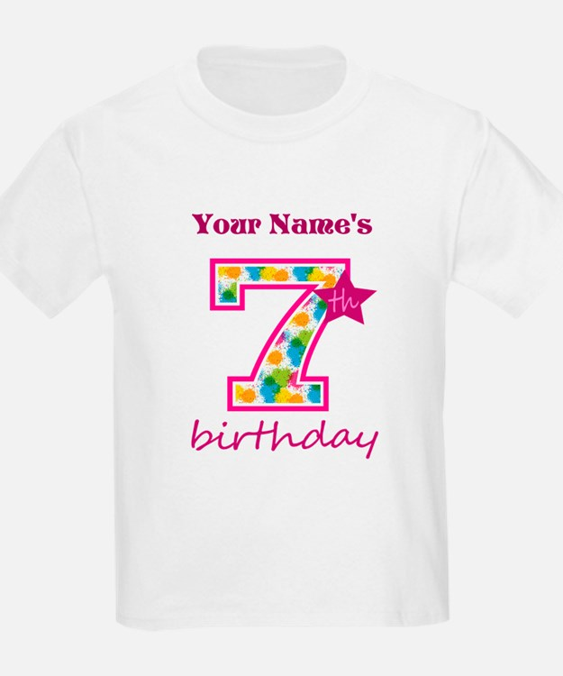 7 year old birthday t shirts shirts tees custom 7 for T shirts for 15 year olds