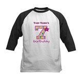 7 year old birthday girl Baseball Jersey