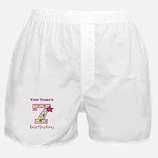 7th Birthday Splat - Personalized Boxer Shorts