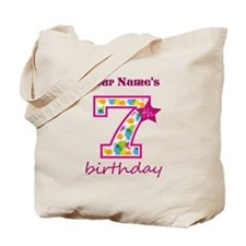 7th Birthday Splat - Personalized Tote Bag