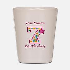 7th Birthday Splat - Personalized Shot Glass