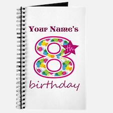 8th Birthday Splat - Personalized Journal